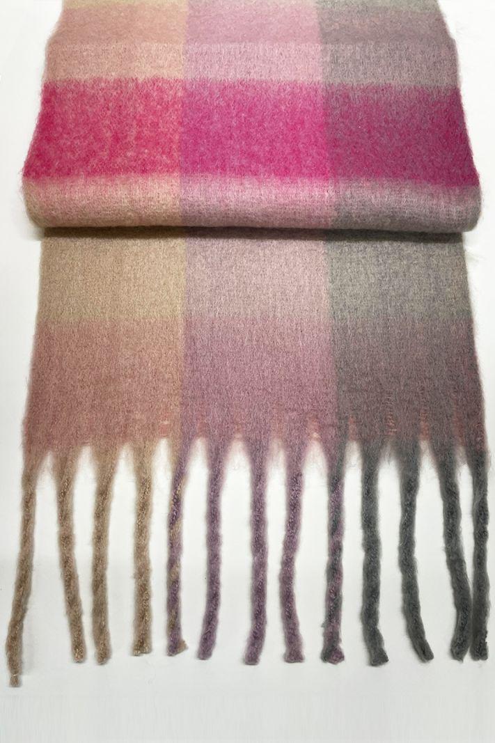 Languotas pastelinių atspalvių šalikas
