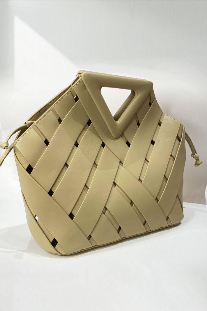 Odinis krepšys smėlio spalvos
