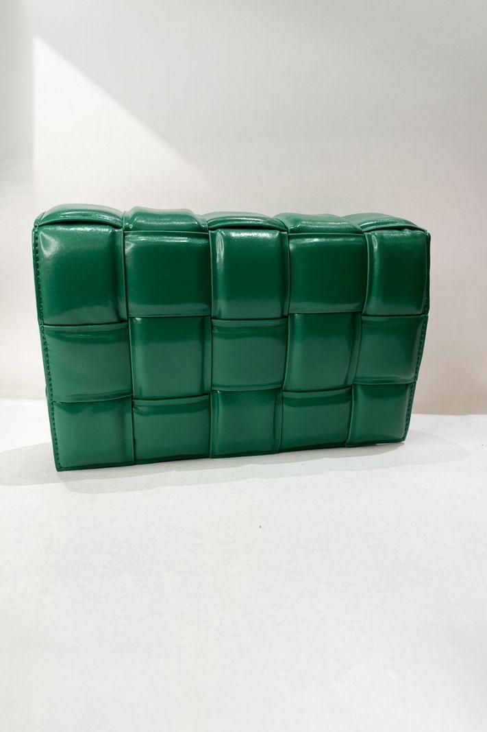 Pinta rankinė žalios spalvos