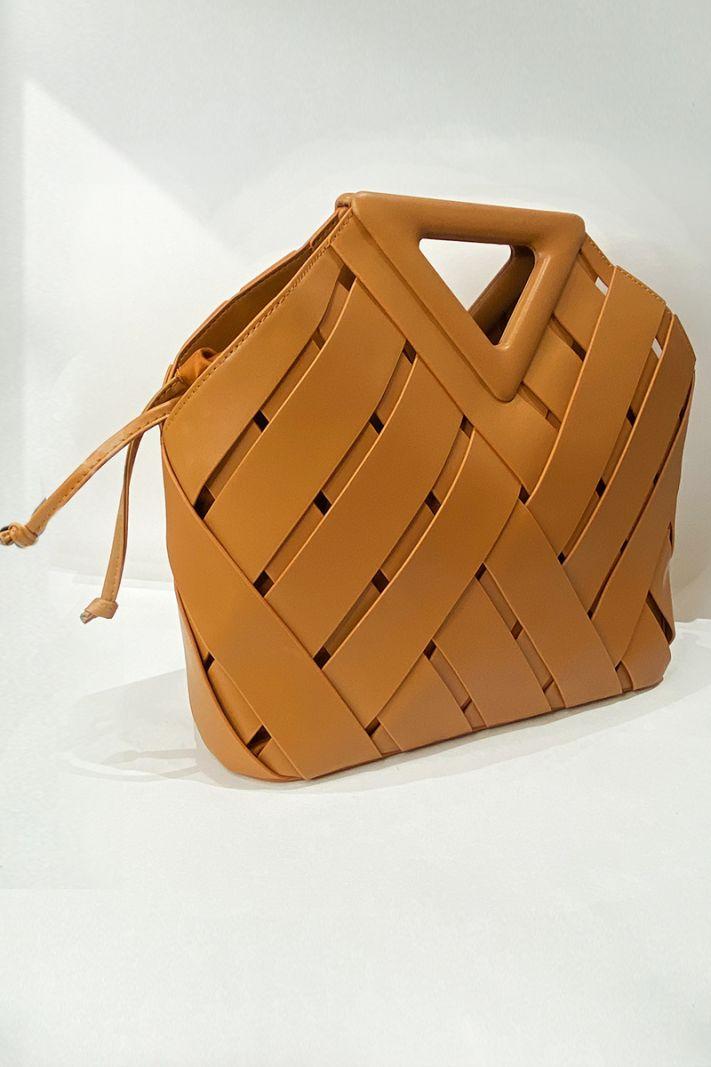 Odinis krepšys rudos spalvos
