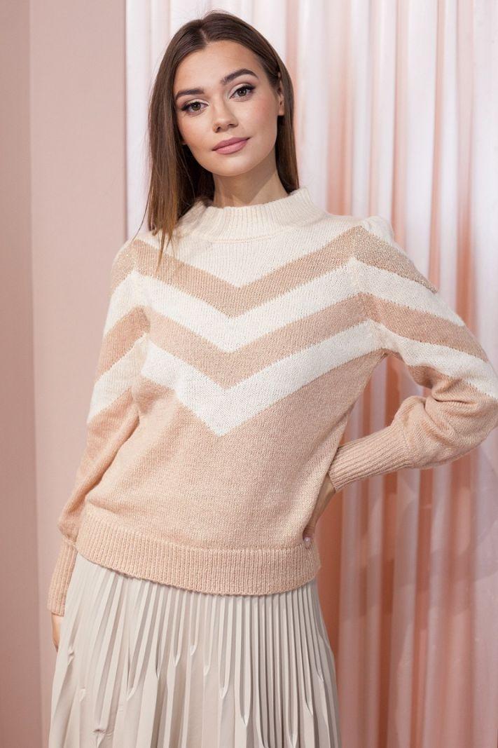 Megztinis su moheros vilna smėlio spalvos