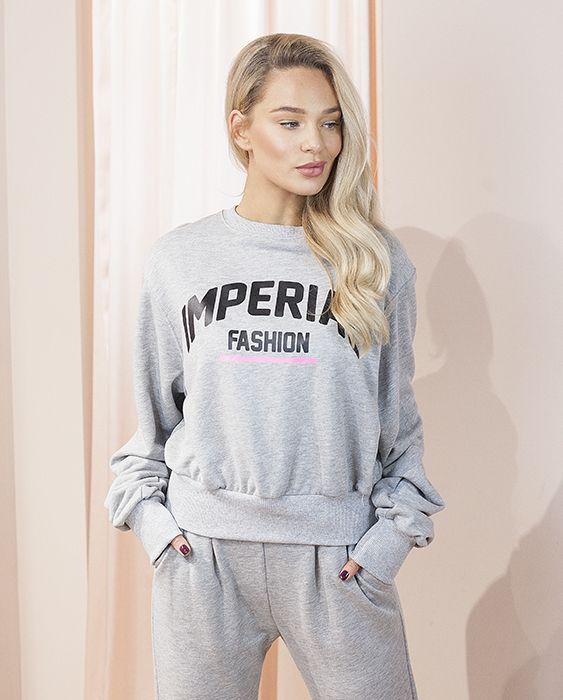Trumpas, laisvo modelio džemperis pilkas