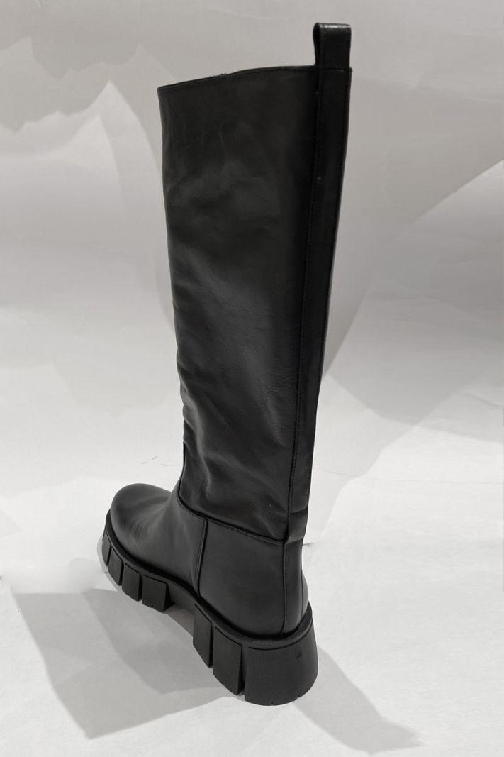 Ilgi auliniai batai juodos spalvos