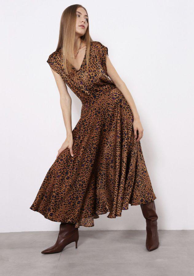 Leopardo rašto sijonas